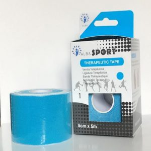Venda Tape Neuromuscular 5 x 5 Azul