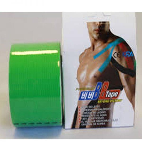 Venda Tape Neuromuscular 5 x 5 Verde