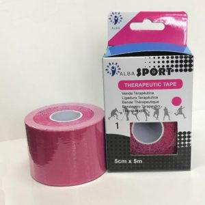 Venda Tape Neuromuscular 5 x 5 rosa