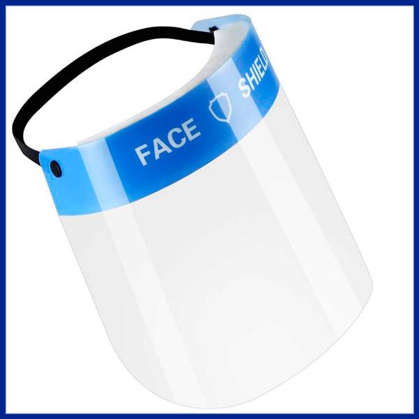 Visera con pantalla protectora facial