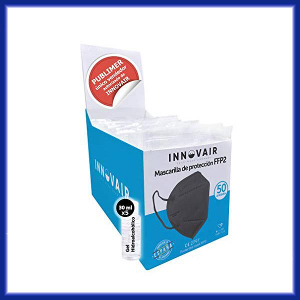 Comparar Pack 50 mascarillas FFP2 + 5 geles hidroalcohólicos